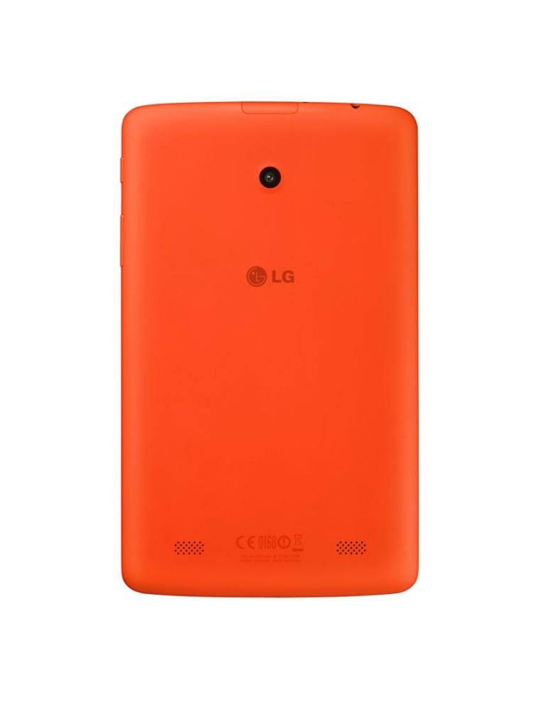 LG G Pad 7.0 Laranja - verso