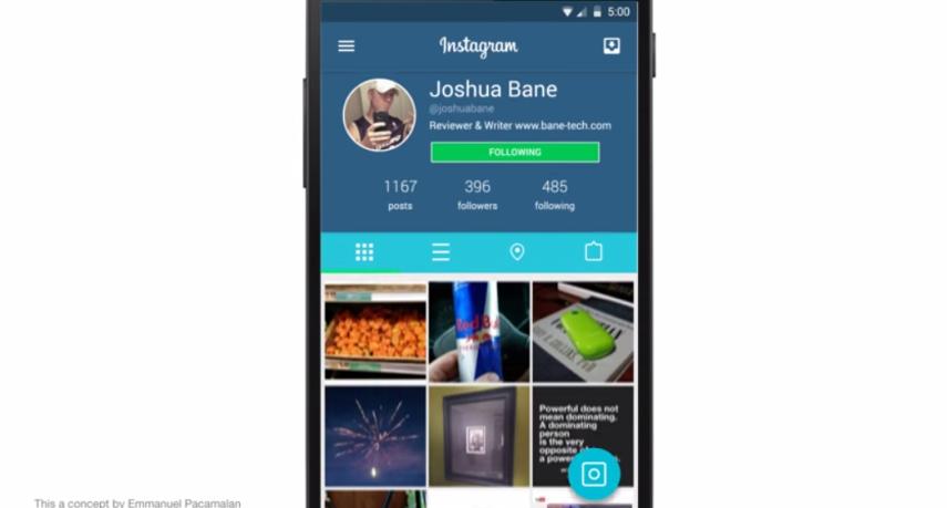 instagram-material-design-concept