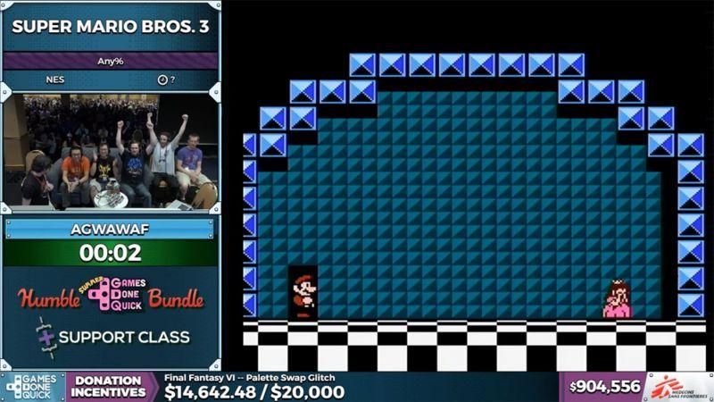 Super Mario 3 em dois segundos