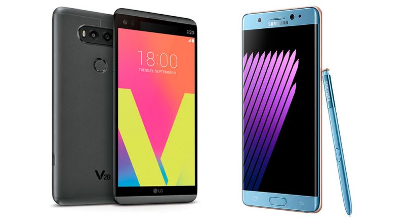 LG V20 vs Samsung Galaxy Note 7