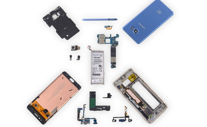 galaxy note 7 fan edition ifixit