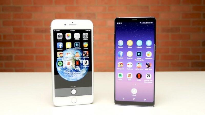 Galaxy Note 8 Vs Iphone 8